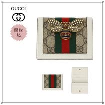 《GUCCI》Queen Margaret GG wallet White & GG Supreme