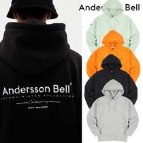 ★ANDERSSON BELL★UNISEX FULL NAME LOGO EMBROIDERY HOODIE4色