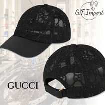 【VIP SALE!!】GUCCI☆GG EMBROIDERED ベースボールキャップ