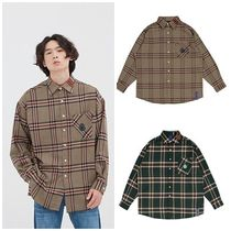 日本未入荷ROMANTIC CROWNのOLD CHECK WIDE SHIRT 全2色