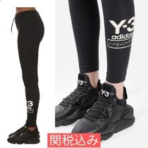 Y-3(ワイスリー) パンツ 【関税・送料込】Y-3 STACKED LOGO LEGGINGS ロゴレギンス