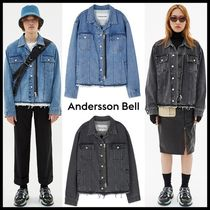 [ANDERSSON BELL] (UNISEX) INSIDE OUT ZIPPER DENIM JACKET