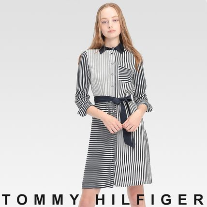 Tommy Hilfiger ワンピース TOMMY HILFIGER シャツワンピース 関税なし 国内買付 すぐ届く