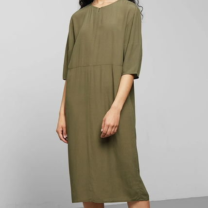 "Weekday ワンピース ""WEEKDAY"" Cara Dress Khaki"