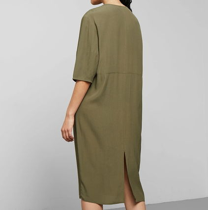 "Weekday ワンピース ""WEEKDAY"" Cara Dress Khaki(2)"