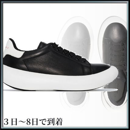 MARNI スニーカー 関税込◆ black leather low top sneakers