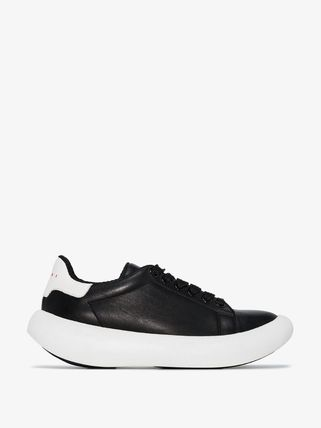 MARNI スニーカー 関税込◆ black leather low top sneakers(2)