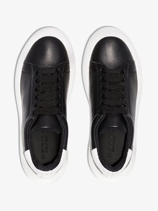 MARNI スニーカー 関税込◆ black leather low top sneakers(5)