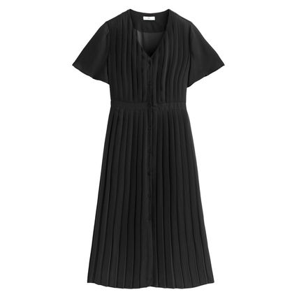 LA Redoute ワンピース La Redoute★Pleated and Buttoned Long Dress(5)