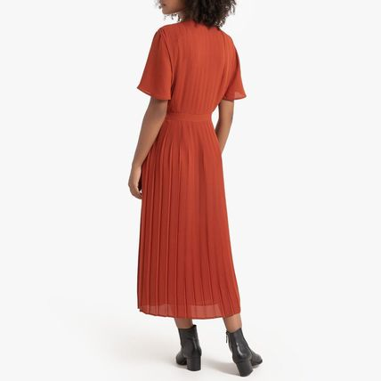 LA Redoute ワンピース La Redoute★Pleated and Buttoned Long Dress(8)