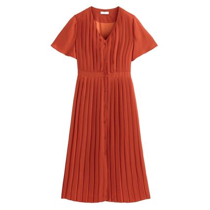 LA Redoute ワンピース La Redoute★Pleated and Buttoned Long Dress(10)