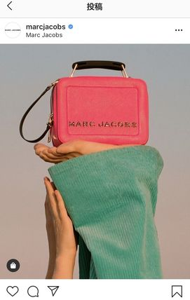 【MARC JACOBS】THE TEXTURED MINI BOX BAG ショルダーバッグ