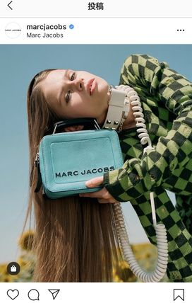 【MARC JACOBS】THE TEXTURED BOX BAG 中ショルダーバッグ