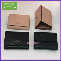 【kate spade】上質レザーの便利な三折りコンパクト財布★connie