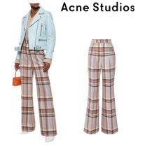 Acne Studios☆Checked wool and silk-blend flared pants