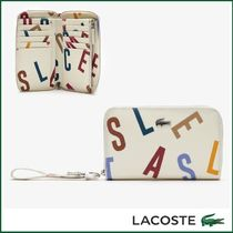 UK発☆LACOSTE☆Daily Classic ロゴ キャンバス 折財布