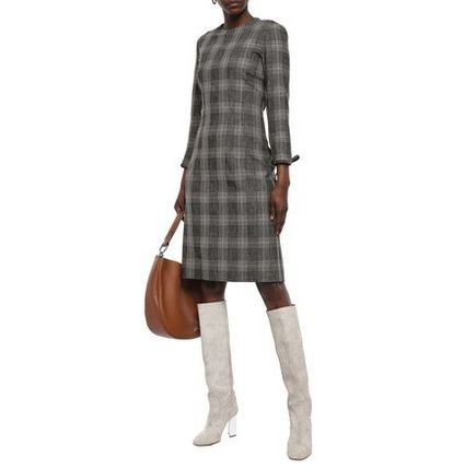 Acne ワンピース Acne Studios☆Prince of Wales checked wool & cotton ドレス(3)