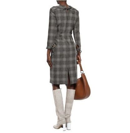 Acne ワンピース Acne Studios☆Prince of Wales checked wool & cotton ドレス(5)
