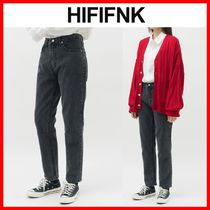 ☆韓国の人気☆【HI FI FNK】☆David Crop Black Denim☆