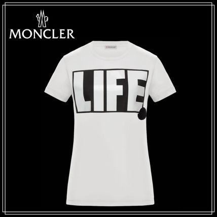 """MONCLER Tシャツ・カットソー 【MONCLER(モンクレール)】T-SHIRT★ """"LIFE""""プリントTシャツ♪"""