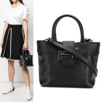 TOD'S(トッズ) トートバッグ 【TOD'S】Small Double T Tote Bag 2WAY ブラック