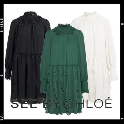 See by Chloe ワンピース 【See by Chloe】Crepe dress with cut-out