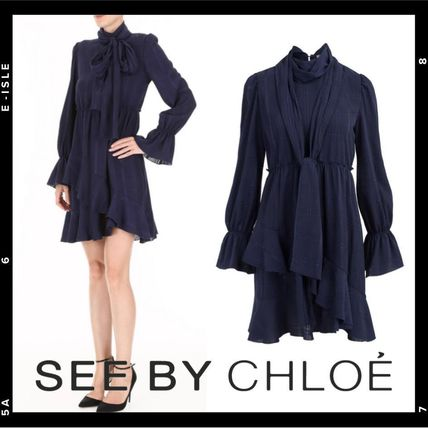 See by Chloe ワンピース 【See by Chloe】Ruffled crepe dress