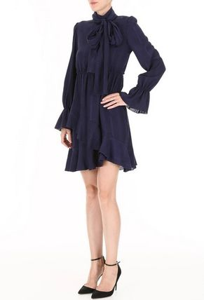 See by Chloe ワンピース 【See by Chloe】Ruffled crepe dress(6)