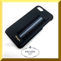 PRADA【新作/SAFFIANO】1ZH035 iphone7 & 8レザーケース★BLACK