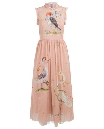 RED VALENTINO ワンピース 【Red Valentino】Printed long silk and tulle dress(2)