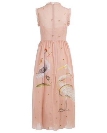 RED VALENTINO ワンピース 【Red Valentino】Printed long silk and tulle dress(3)
