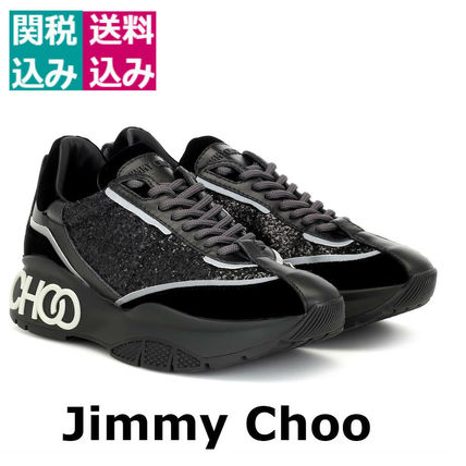 Jimmy Choo スニーカー 関税込☆JIMMY CHOO ☆Raine glitter sneakersブラック