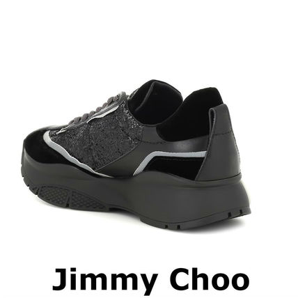 Jimmy Choo スニーカー 関税込☆JIMMY CHOO ☆Raine glitter sneakersブラック(3)