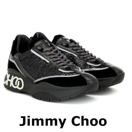 Jimmy Choo スニーカー 関税込☆JIMMY CHOO ☆Raine glitter sneakersブラック(7)