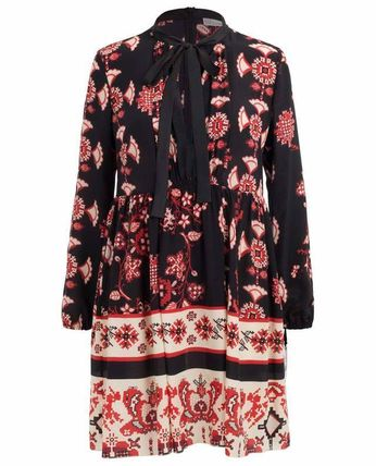 RED VALENTINO ワンピース 【Red Valentino】Snow Flower Ramage short silk dress(2)