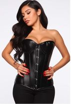 【関税・送料込】Running Through Lovers Faux Leather Corset
