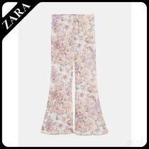 ★ZARA★ザラ  FLORAL PRINT FLARED TROUSERS