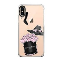 【Casetify】 ★ iPhone ★ピンクローズとブラックヒール