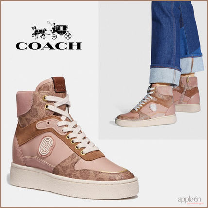 Coach スニーカー 【日本未入荷】Coach C220 High Top Sneaker With Coach Patch