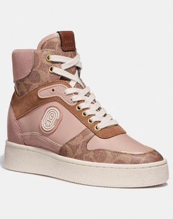 Coach スニーカー 【日本未入荷】Coach C220 High Top Sneaker With Coach Patch(2)