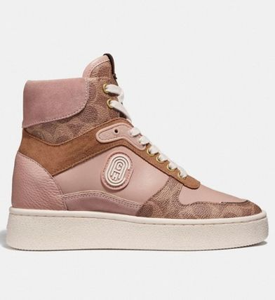 Coach スニーカー 【日本未入荷】Coach C220 High Top Sneaker With Coach Patch(3)