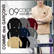 【COMME des GARCONS】PLAY メンズ ハートロゴ セーター