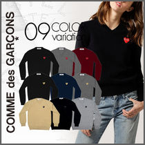 【COMME des GARCONS】PLAY レディース ハートロゴ セーター