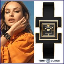 【Tory Burch】Tバングルウォッチ  T BANGLE GOLD/BLACK