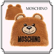Moschino☆Baby ハット フリース ロゴ Ears Brown