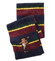 POLO Ralph Lauren Men's Colorblocked Rugby Bear Scarf