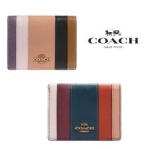 Coach【国内発送・関税込】Small Snap Wallet With Patchwork