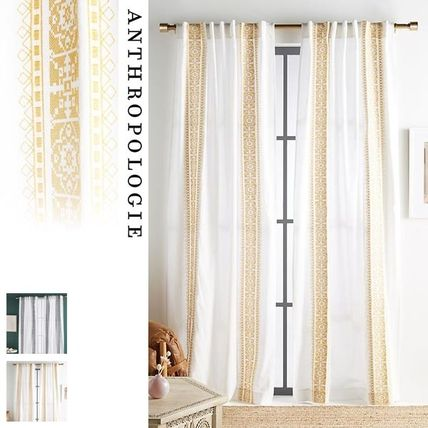 Anthropologie カーテン ★新作BOHOシック ★ Camilla Embroidered Curtain 2色★H213cm~