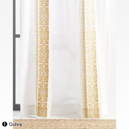 Anthropologie カーテン ★新作BOHOシック ★ Camilla Embroidered Curtain 2色★H213cm~(4)