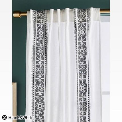 Anthropologie カーテン ★新作BOHOシック ★ Camilla Embroidered Curtain 2色★H213cm~(8)